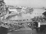 Temporary Bridge at Poznan, Poland, 1939 Photographic Print