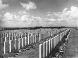 War Cemetery in Belgium Photographic Print