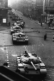 Russian Tanks on Budapest Street in 1956 Photographic Print