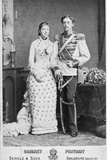 King of Sweden and His Wife Photographic Print