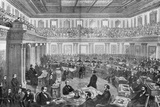 Wood Engraving the Senate as a Court of Impeachment for the Trial of Andrew Johnson Photographic Print