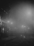 Street Lights in Fog Photographic Print