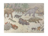 Illustration of Animals in Glacial Times Giclee Print by E. Boyd Smith