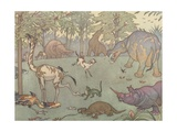 Illustration of the Golden Age of Mammals Giclee Print by E. Boyd Smith