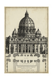 Basilica at the Vatican Print by G. de Rossi