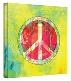 Peace Sign gallery-wrapped canvas Stretched Canvas Print by Elena Ray