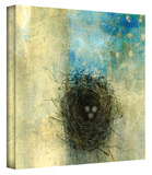 Bird Nest Gallery-Wrapped Canvas Stretched Canvas Print by Elena Ray