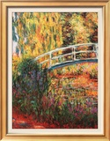 Japanese Bridge, Water Lily Pond Art by Claude Monet