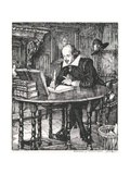 Illustration of William Shakespeare Giclee Print by Edmund J. Sullivan