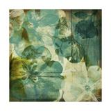 Vintage Teal Blooms II Prints by Ricki Mountain