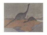 Illustration of the Last Brontosaurus Giclee Print by E. Boyd Smith