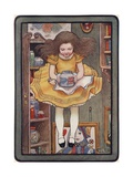 Illustration of Alice Holding a Jar Giclee Print by M.L. Kirk
