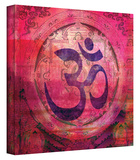 Om Mandala gallery-wrapped canvas Stretched Canvas Print by Elena Ray