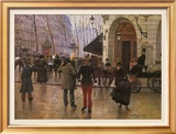 Boulevard des Capucines and The Vaudeville Theatre Art by Jean Béraud