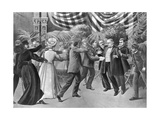 Assassination of President Mckinley (Wash Drawing) Giclee Print by T. Dart Walker