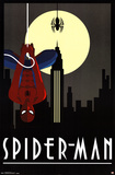 Spider-Man Art Deco Posters