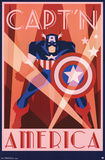 Captain America - Art Deco Photo