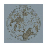 Northern Circumpolar Map Posters by W.G. Evans