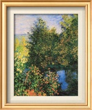 Corner of the Garden at Montgeron Print by Claude Monet