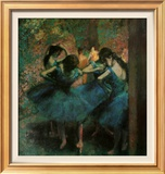 Dancers in Blue Póster por Edgar Degas