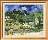 Thatched Cottages at Cordeville Posters por Vincent van Gogh