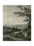 The Waterfall Prints by F. Zuccherelli