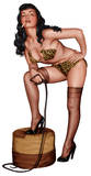 Bettie Page - Smoking Standee Cardboard Cutouts