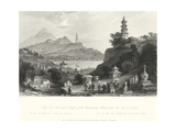 Temple at Lake Lee-Hoo Posters by T. Allom