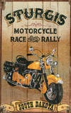 Sturgis Motorcycle Vintage Wood Sign