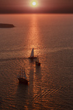 Sunset in Santorini Greece Photographic Print by Art Wolfe