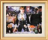 Bar at the Folies-Bergere, c.1882 Print by Édouard Manet