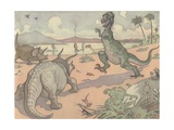 Illustration of Animals of the Cretaceous Period Giclee Print by E. Boyd Smith