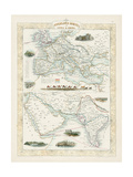Overland Routes - India and China Giclee Print by J. Rapkin