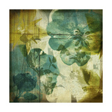 Vintage Teal Blooms I Prints by Ricki Mountain