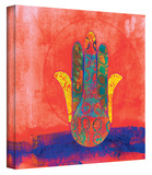 Hand of Fatima gallery-wrapped canvas Stretched Canvas Print by Elena Ray