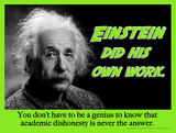 His Own Work (Einstein) Affiches