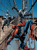 Amazing Spider-Man No.512 Cover: Spider-Man and Stacy Twins Fighting and Flying Posters by Mike Deodato