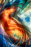 B (Colorful Abstract) Photographic Print by Ursula Abresch