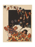 The Children Were Nestled All Snug in their Beds Giclee Print by William W. Denslow