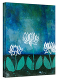 Lotus Blossoms Gallery-Wrapped Canvas Stretched Canvas Print by Elena Ray