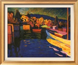 Autumn Landscapes with Boats Posters by Wassily Kandinsky