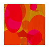 Warm Ellipses I Premium Giclee Print by Ricki Mountain