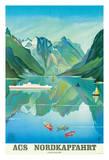 ACS Nordkapfahrt (North Cape Voyage) - Hapag-Lloyd Cruises - Norway Fjord Cruise Giclee Print