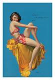 O Kay! - Hawaiian Pin Up Glamour Girl - 1937 Brown & Bigelow Calendar Giclee Print by Rolf Armstrong