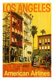 Los Angeles - American Airlines - Hollywood California Movie Set Giclee Print