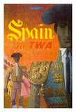 Spain Fly TWA - Trans World Airlines - Matadores (Matadors) Reproduction procédé giclée