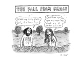 """The Fall From Grace"" - New Yorker Cartoon Premium Giclee Print by Roz Chast"