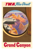 Grand Canyon, Arizona - Trans World Airlines TWA Flies Direct Giclee Print