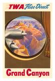 Grand Canyon, Arizona - Trans World Airlines TWA Flies Direct Giclee Print