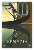 Venezia - Venice, Italy - Venetian Gondola Gondolier Giclee Print